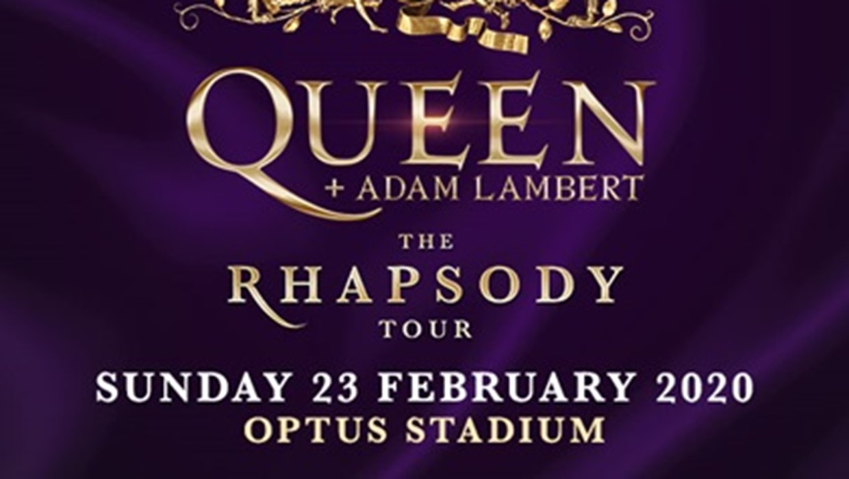 Queen and Adam Lambert The Rhapsody Tour 23  February 2020 Optus Stadium