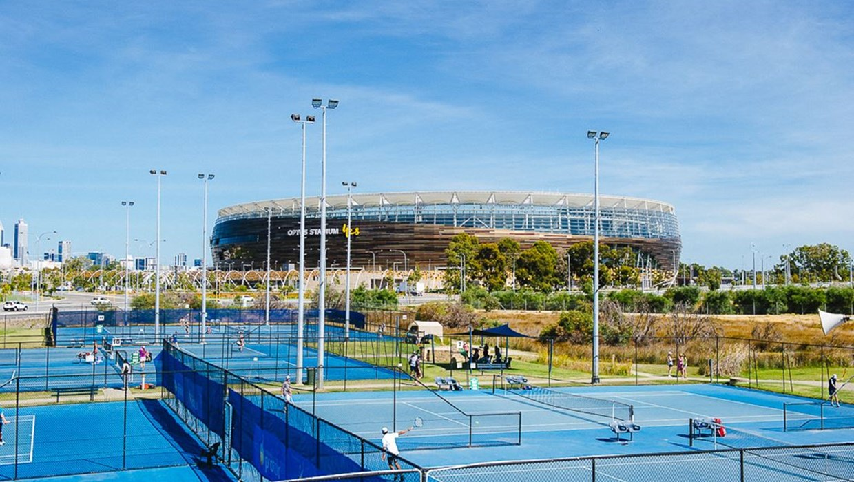State Tennis Centre courts, Perth.